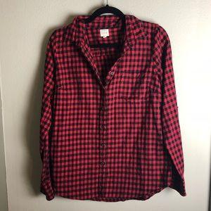 J. Crew flannel shirt red/black M